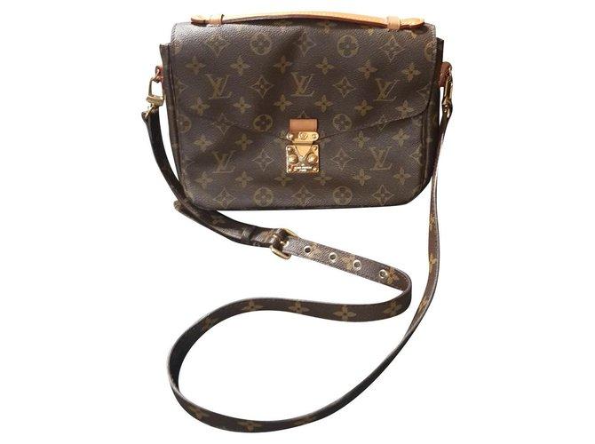 Louis Vuitton Louis Vuitton Métis leather and monogram canvas bag Handbags Leather,Cloth Brown ref.171861