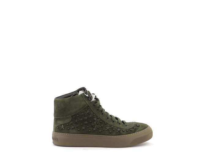 Jimmy Choo Sneakers Misc Deerskin Dark green ref.171922