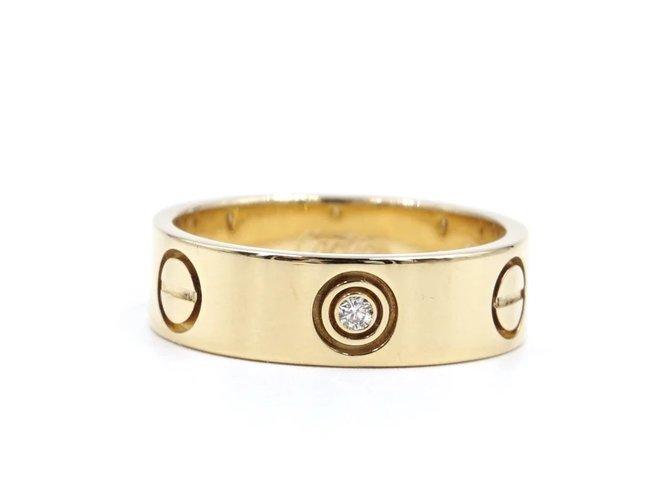 Bagues Cartier cartier 18K 3p Taille de bague en diamants 53 Or jaune Doré ref.172006