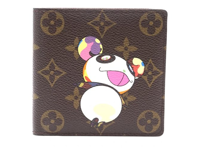 Louis Vuitton Louis Vuitton Monogram Panda Bifold Compact Wallet Purses, wallets, cases Leather Multiple colors ref.172016