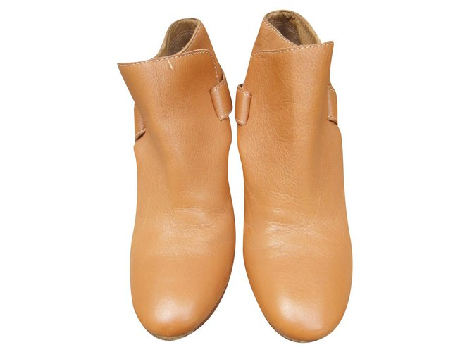 Chloé Chloé p boots 39 Ankle Boots Leather Light brown ref.172041