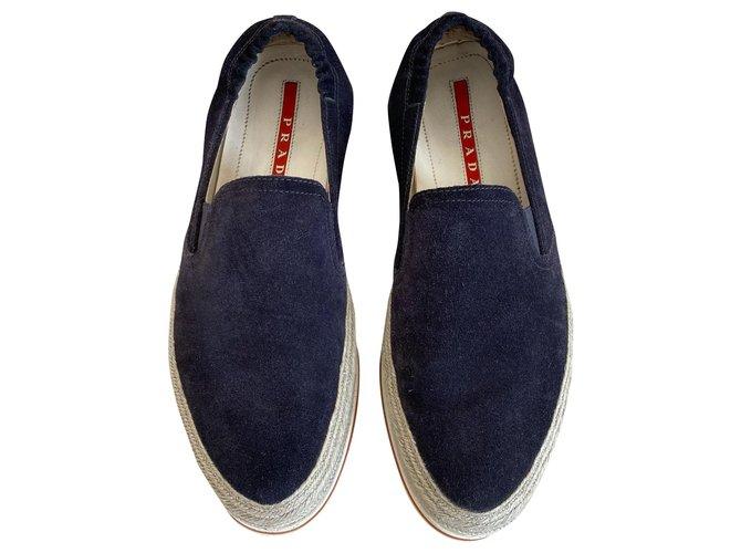 Prada Sneakers Sneakers Suede Navy blue