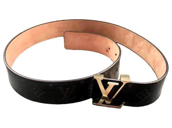 Louis Vuitton Belts Belts Leather Dark brown ref.172216