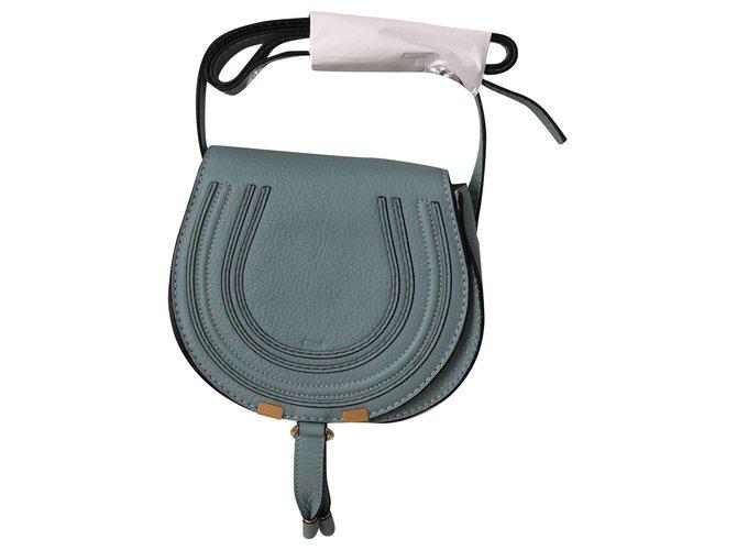 Chloé Marcie Handbags Leather Light blue ref.172378