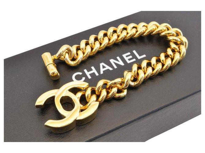 Bracelets Chanel Chanel Vintage Gold CC Plaqué or Jaune ref.172408