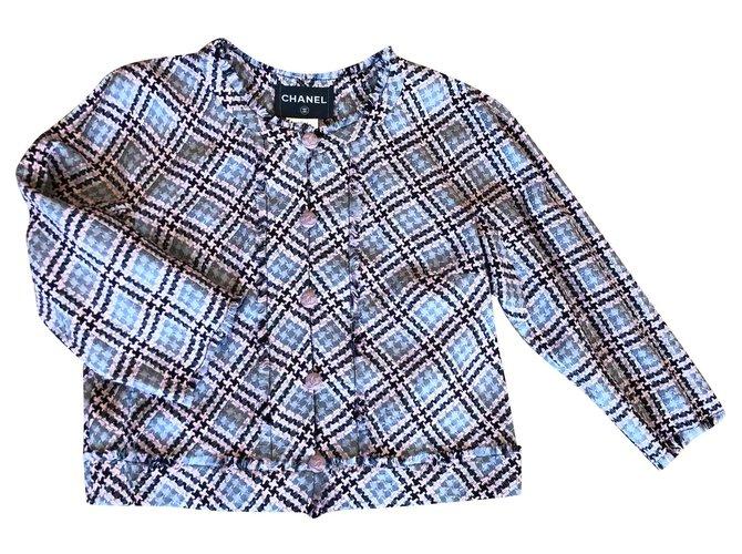 Chanel Jackets Jackets Tweed Blue ref.172622