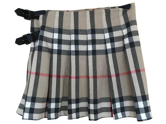 Burberry Skirts Skirts Wool Beige ref.172627