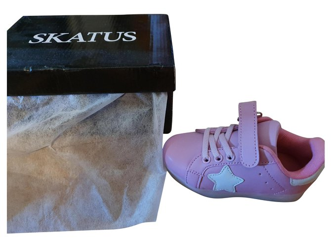 Autre Marque Skatus Sneakers Leather Pink ref.173387