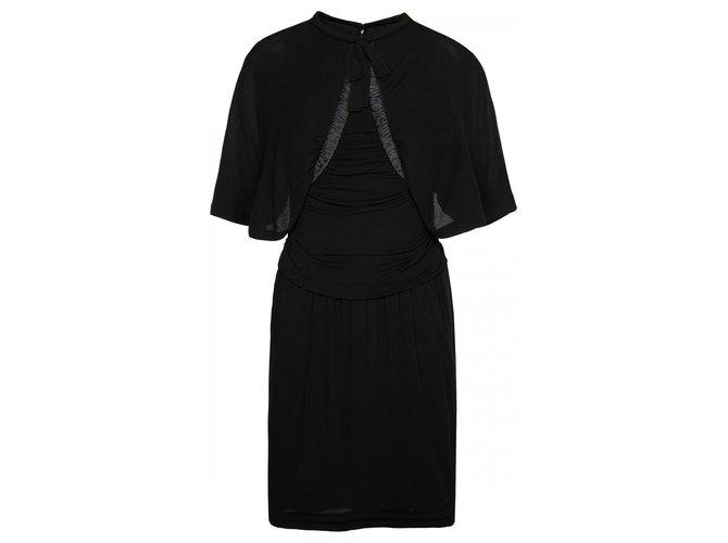 Robes Chanel robe en soie noire avec noeud Soie Noir ref.173412