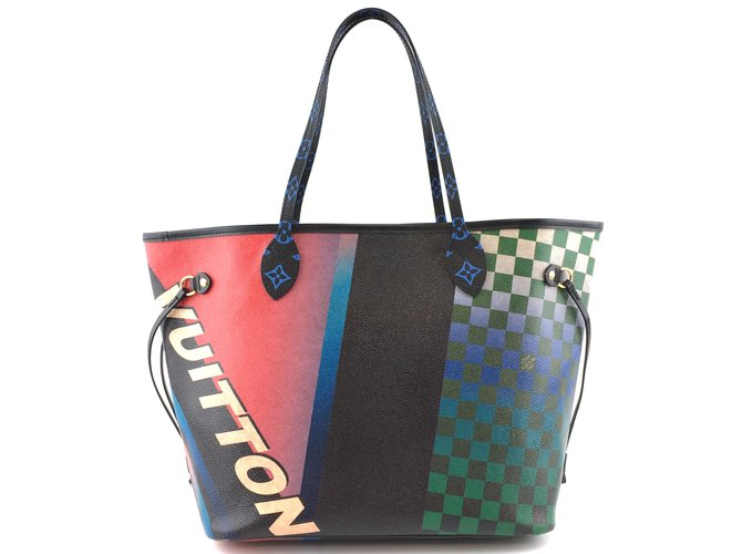 Louis Vuitton Louis Vuitton Neverfull Race MM Monogram Damier Canvas Handbags Leather Multiple colors ref.173566