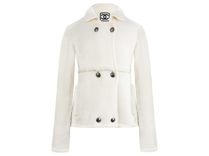 Chanel Chanel White wool jacket Jackets Wool Other ref.173669