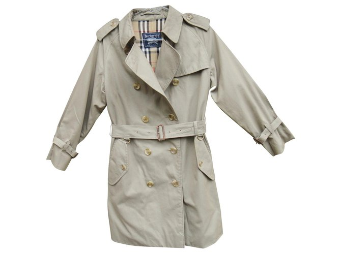 Vintage Burberry Women S Trench Coat 38, Women S Khaki Trench Coat Uk