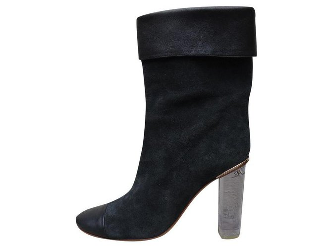Chloé Ankle Boots Ankle Boots Leather Black,Dark grey ref.173741