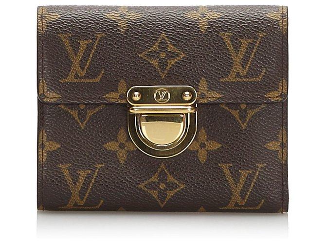 Louis Vuitton Louis Vuitton Brown Monogram Koala Wallet Misc Cloth Brown ref.173911