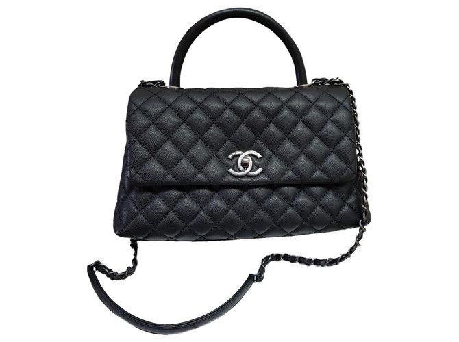 Chanel Chanel Coco Handbags Leather Black ref.173958