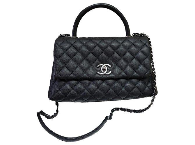 Sacs à main Chanel Chanel Coco Cuir Noir ref.173958