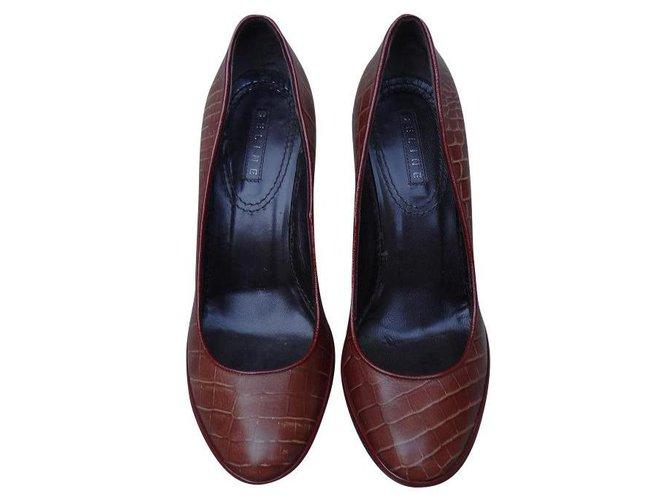 Céline Heels Heels Leather Brown ref.174161