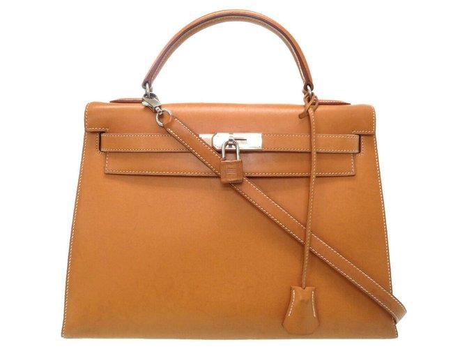Hermès hermes kelly 32 Handbags Leather Beige ref.174195