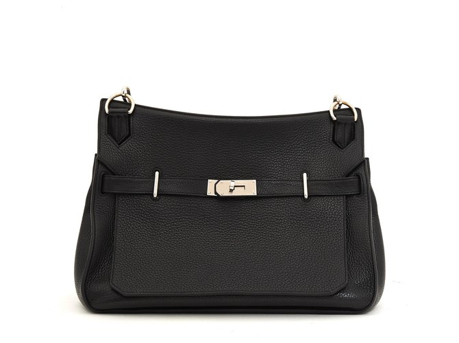 Hermès Jypsiere Handbags Leather Black ref.174222