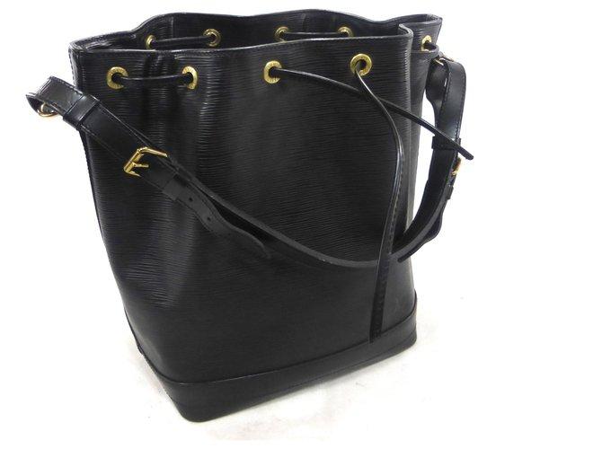 Louis Vuitton NOE GM LEATHER EPI BLACK Handbags Leather Black ref.174628