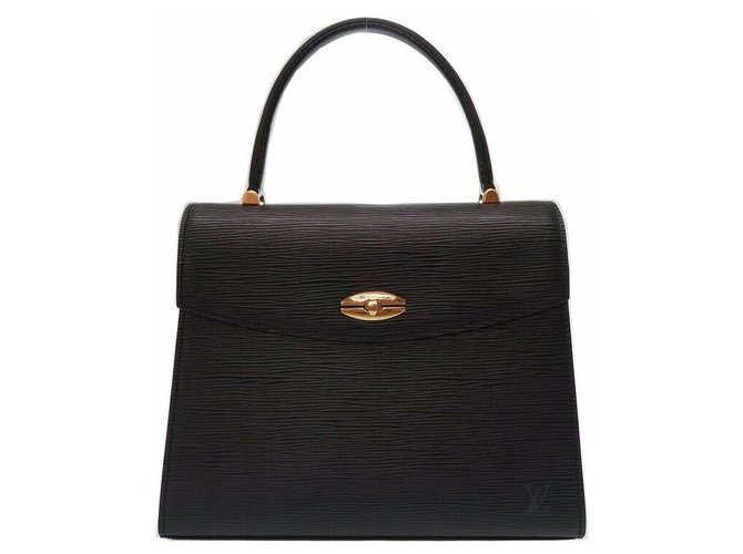 Louis Vuitton Louis Vuitton Malesherbes Handbags Leather Black ref.174668