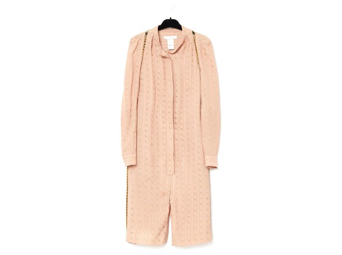Chloé PINK SILK FR36/38 Jumpsuits Silk Pink ref.174698