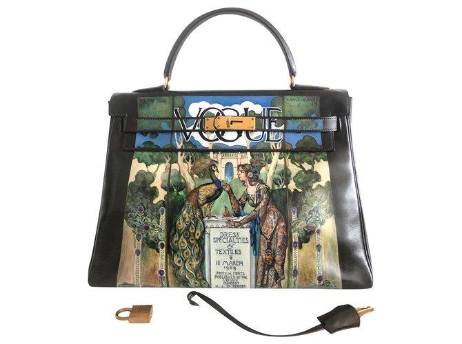 Hermès Hermes Kelly bag 32 customized Handbags Leather Brown ref.174775