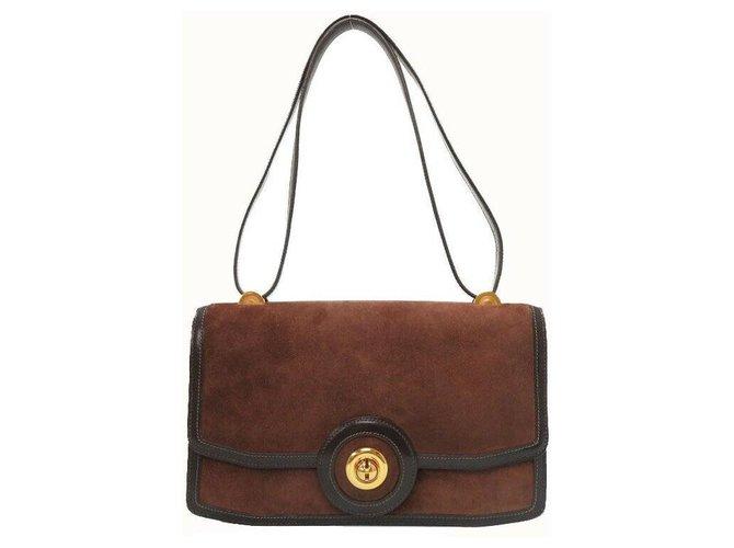 Hermès Hermès Vintage Shoulder Bag Handbags Leather Brown ref.174811