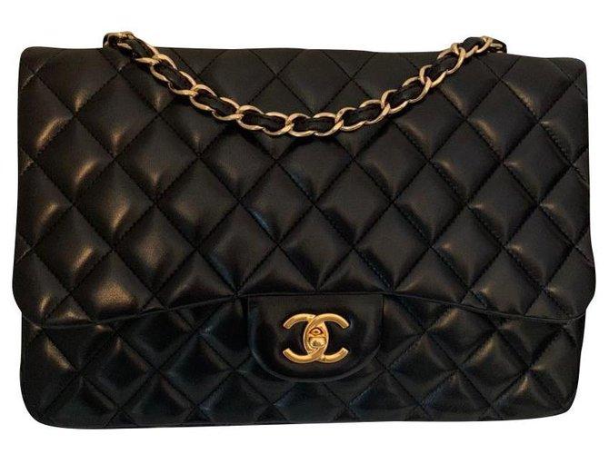 Chanel Chanel Handbags Leather Black ref.174843