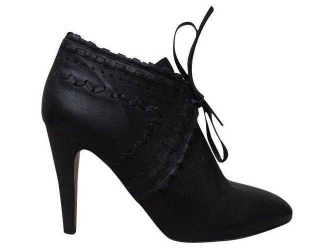 Chloé Ankle Boots Ankle Boots Leather Black ref.174962