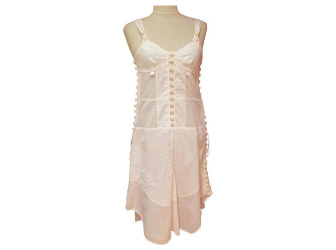 Chloé Dresses Dresses Cotton White ref.175002