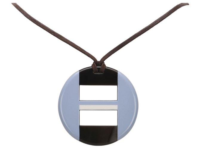 Hermès Hermes Blue Buffalo Horn Necklace Misc Other Blue ref.175105