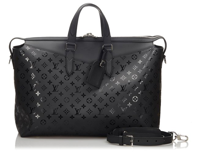Louis Vuitton Louis Vuitton Black Monogram Illusion Explorer Travel bag Leather,Other Black ref.175169