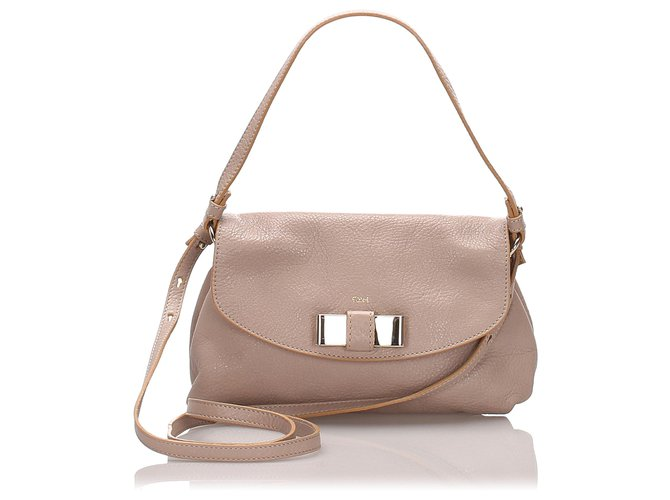 Chloé Chloe White Leather Lily Shoulder Bag Handbags Leather,Other White,Cream ref.175367