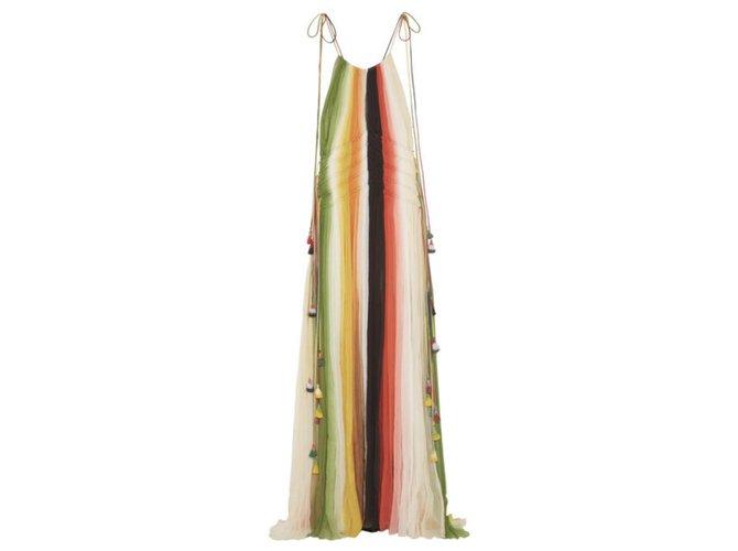 Chloé Rainbow maxi dress Dresses Silk Multiple colors ref.175458