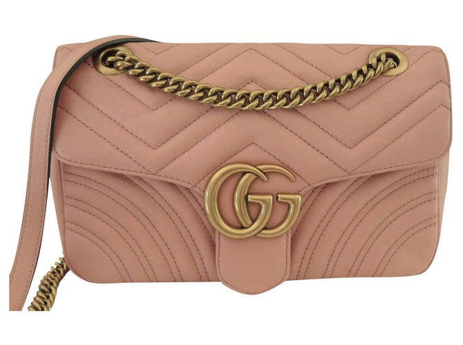 Gucci Marmont Handbags Leather Pink ref.175516