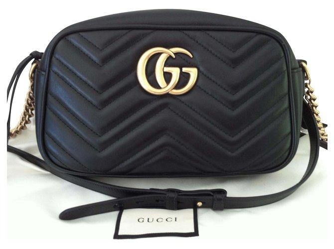 Gucci Marmont Handbags Leather Black ref.175523