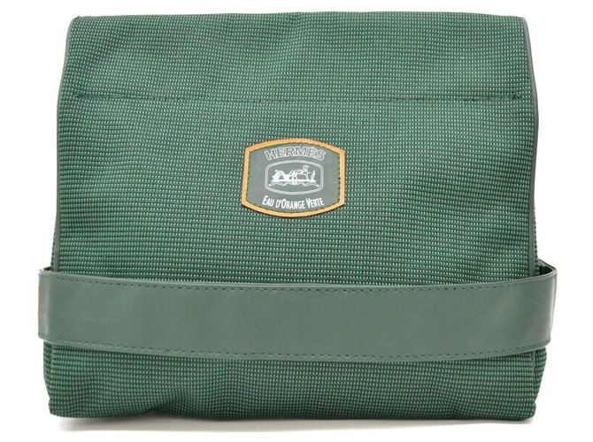 Hermès Hermès Novelty Clutch Bag Clutch bags Cloth Green ref.175601