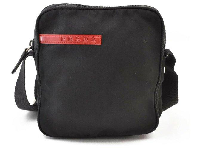 Prada Prada Nylon Shoulder Bag Misc Synthetic Black ref.176586