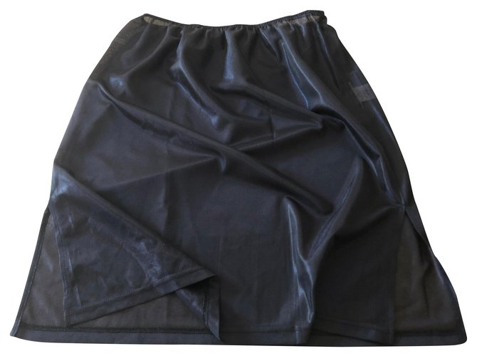 Lingerie Issey Miyake Fond De Jupe Ou Robe Issey Miyake Noir T 3 Japonaise Polyester Noir Ref 176631 Joli Closet