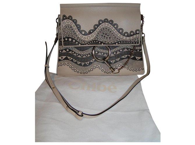 Chloé Chloé Faye Medium limited edition bag Handbags Leather Beige ref.176707