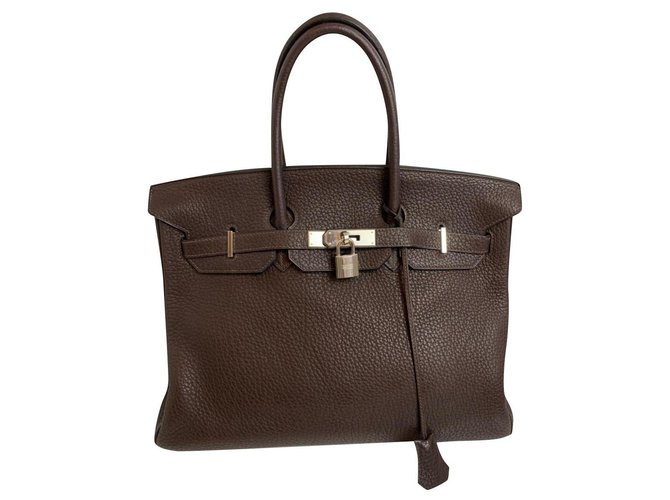 Hermès Hermes Handbags Leather Brown ref.176916