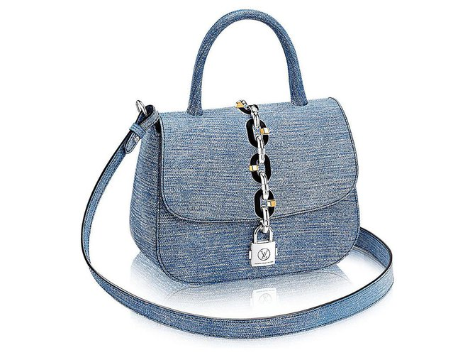 Louis Vuitton Handbags Handbags Leather Blue ref.176927
