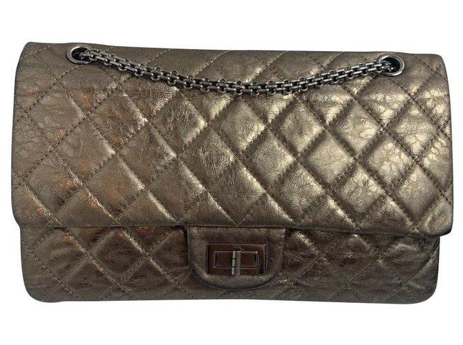 Sacs à main Chanel Chanel Cuir Bronze ref.176946