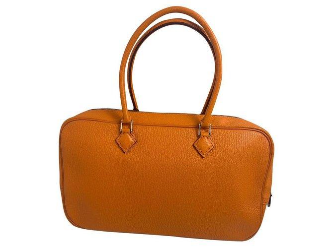 Hermès Hermes Handbags Leather Orange ref.177179