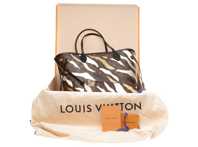 Louis Vuitton Louis Vuitton Neverfull MM limited series League of legends (LOL), Full set Handbags Leather,Cloth Brown,Black,White,Beige ref.177560