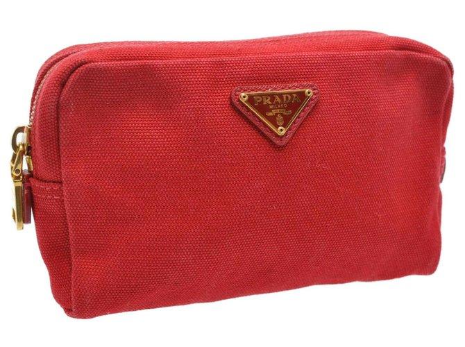 Prada Prada Clutch Bag Clutch bags Cloth Red ref.177679