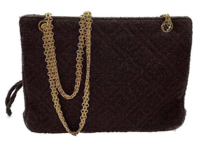 Sacs à main Chanel Sacs à main Tissu Marron ref.177696