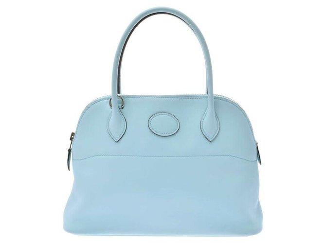 Hermès Hermes Bolide 27 Handbags Leather Blue ref.177706
