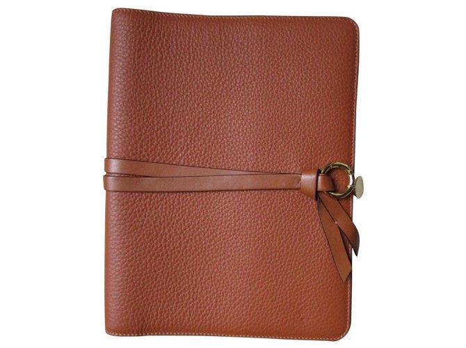 Chloé Calendar cover, Camel leather. Purses, wallets, cases Leather Caramel ref.178099